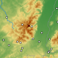 Nearby Forecast Locations - Вогезы - карта