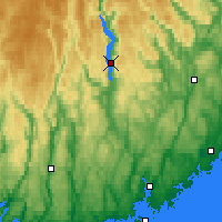 Nearby Forecast Locations - Byglandsfjord - карта