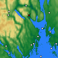 Nearby Forecast Locations - Sande-galleberg - карта