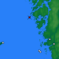 Nearby Forecast Locations - Måseskär - карта