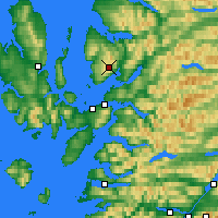 Nearby Forecast Locations - Bealach na Bà - карта