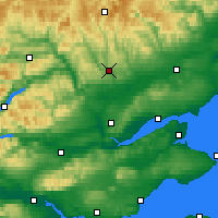 Nearby Forecast Locations - Питлохри - карта