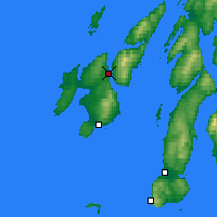 Nearby Forecast Locations - Port Askaig - карта