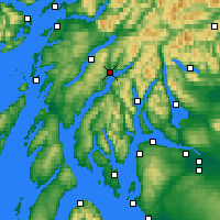 Nearby Forecast Locations - Inveraray - карта