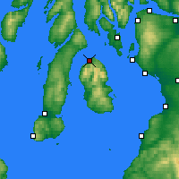 Nearby Forecast Locations - Lochranza - карта