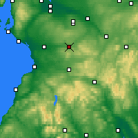 Nearby Forecast Locations - Strathaven - карта