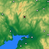Nearby Forecast Locations - Eskdalemuir - карта