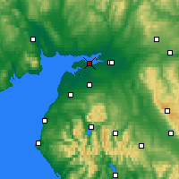 Nearby Forecast Locations - Солуэй-Ферт - карта