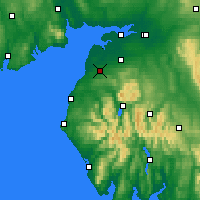 Nearby Forecast Locations - Aspatria - карта