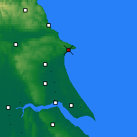 Nearby Forecast Locations - Bridlington - карта