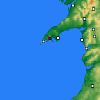 Nearby Forecast Locations - Llŷn Peninsula - карта