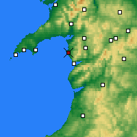 Nearby Forecast Locations - Harlech - карта