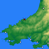 Nearby Forecast Locations - Cardigan - карта