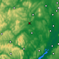 Nearby Forecast Locations - Shobdon - карта