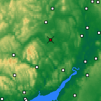 Nearby Forecast Locations - Херефорд - карта