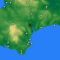 Nearby Forecast Locations - Эксетер - карта