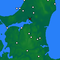 Nearby Forecast Locations - Ольборг - карта