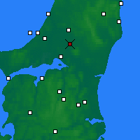 Nearby Forecast Locations - Tylstrup - карта