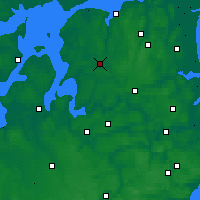 Nearby Forecast Locations - Aalestrup - карта