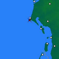 Nearby Forecast Locations - Blavand Cape - карта