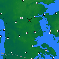 Nearby Forecast Locations - Vamdrup - карта