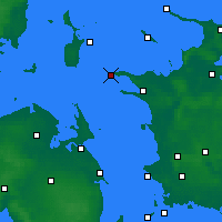 Nearby Forecast Locations - Rosnaes Cape - карта