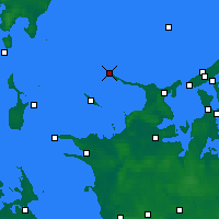 Nearby Forecast Locations - Gniben Point - карта
