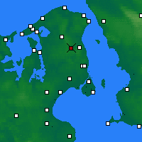 Nearby Forecast Locations - Sjaelsmark - карта