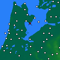 Nearby Forecast Locations - Wijdenes - карта