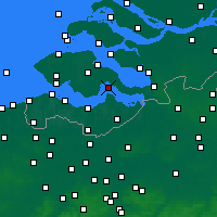 Nearby Forecast Locations - Hansweert - карта