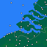 Nearby Forecast Locations - Burgh-Haamstede - карта