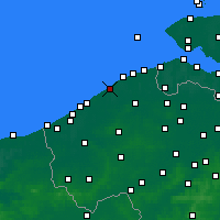 Nearby Forecast Locations - De Haan - карта