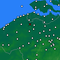 Nearby Forecast Locations - Maldegem - карта