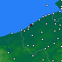 Nearby Forecast Locations - Middelkerke - карта