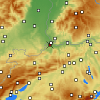 Nearby Forecast Locations - Биннинген - карта