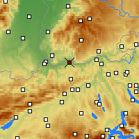 Nearby Forecast Locations - Мёлин - карта