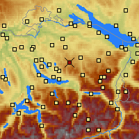 Nearby Forecast Locations - Hörnli - карта