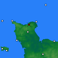 Nearby Forecast Locations - Cherbourg-en-Cotentin - карта