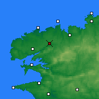 Nearby Forecast Locations - Landivisiau - карта
