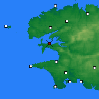 Nearby Forecast Locations - Lanvéoc - карта