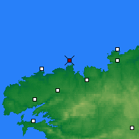 Nearby Forecast Locations - Île de Batz - карта