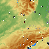 Nearby Forecast Locations - Dorans - карта