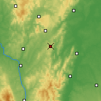 Nearby Forecast Locations - Mont-Saint-Vincent - карта