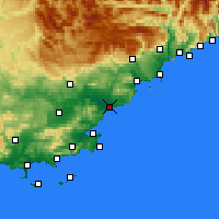 Nearby Forecast Locations - Фрежюс - карта