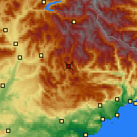 Nearby Forecast Locations - Сент-Андре-лез-Альп - карта