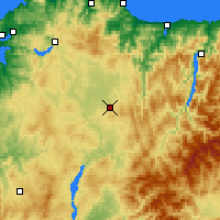 Nearby Forecast Locations - Lugo/Rozas - карта