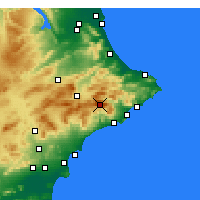 Nearby Forecast Locations - Aitana - карта