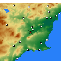 Nearby Forecast Locations - Алькантарилья - карта