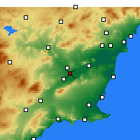Nearby Forecast Locations - Мурсия - карта