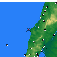 Nearby Forecast Locations - Cabo Carvoeiro - карта